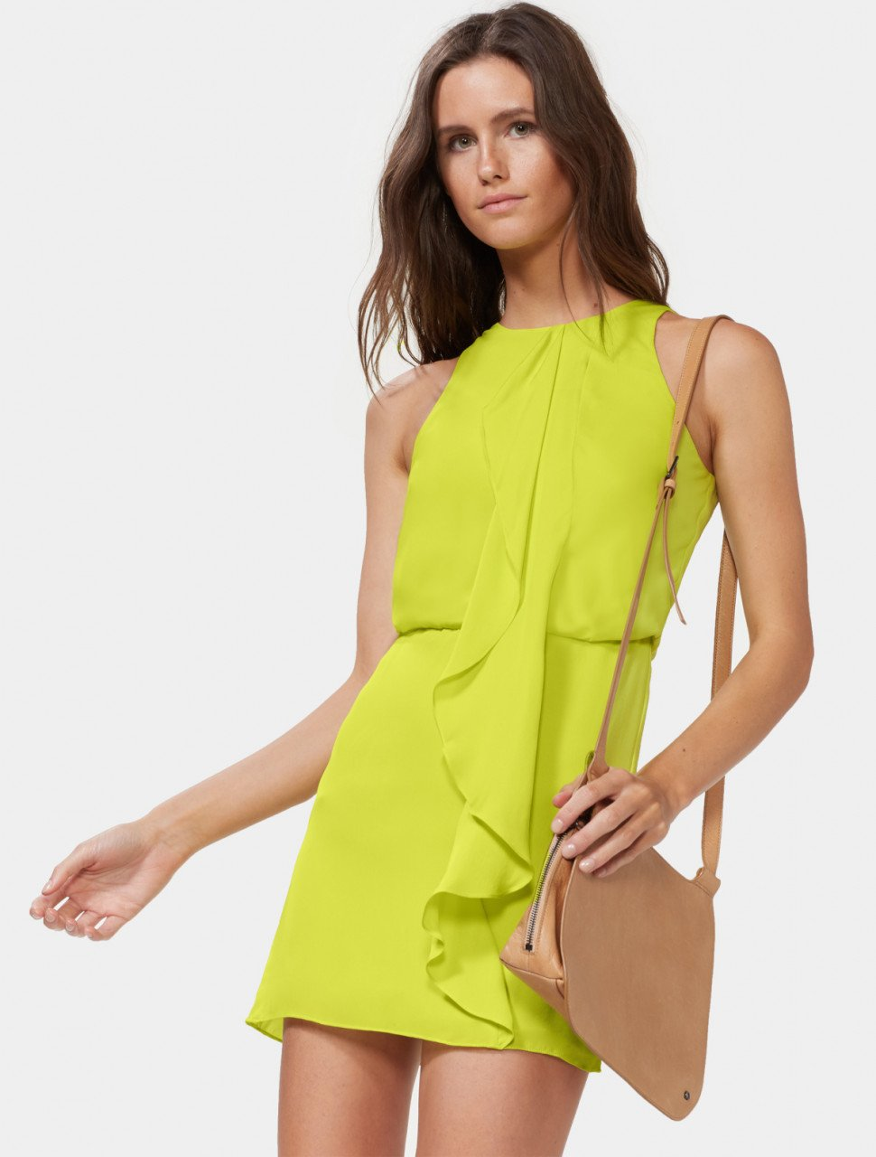 SLEEVELESS DRAPE FRONT DRESS