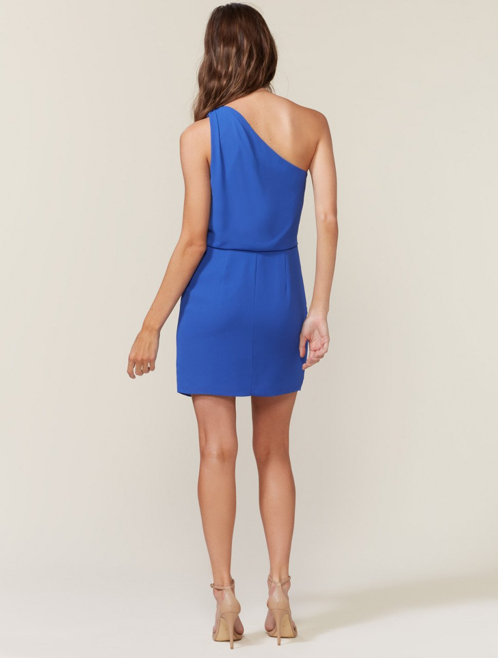 ONE SHOULDER DRESS WITH DRAPE