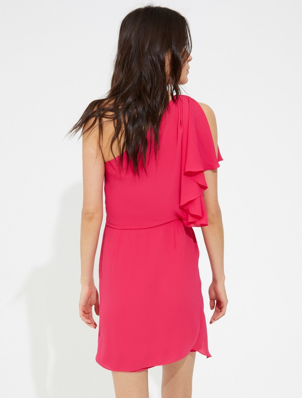 DRAPED SILKY GEORGETTE DRESS