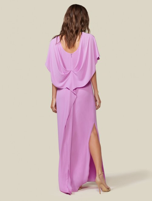 DRAPE BACK CAPE GOWN
