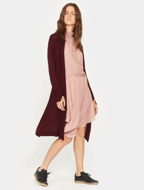 LONG SLEEVE WAIST SASH CARDIGAN