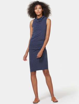 1f4cb69e378 SLEEVELESS DRAPED JERSEY DRESS