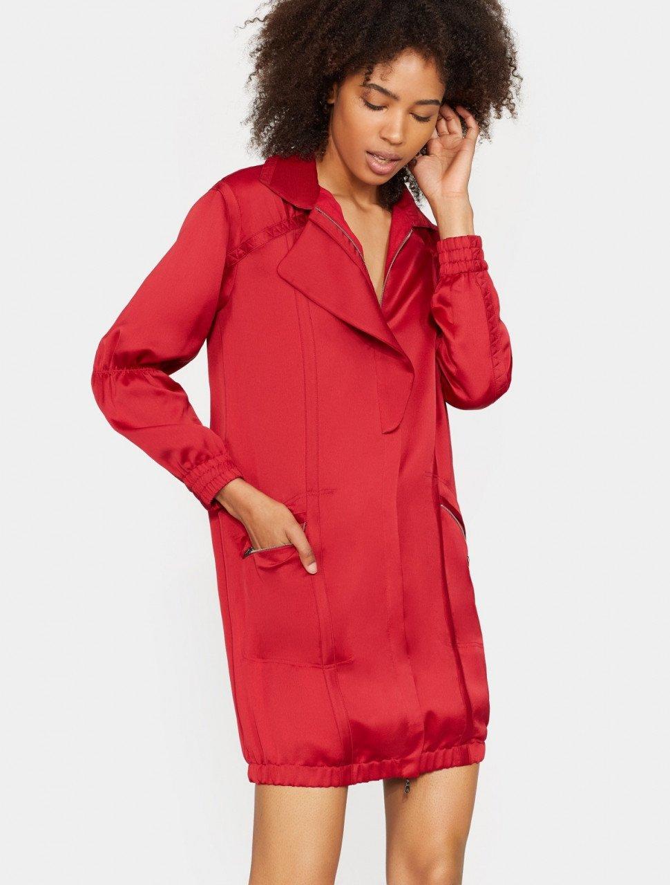 TAPE DETAIL SHIRT DRESS