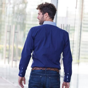 Camisa Erik Azul Marino
