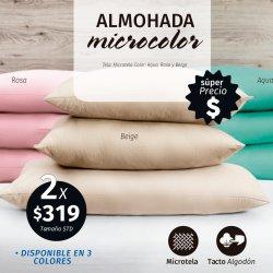 ALMOHADA MICROCOLOR