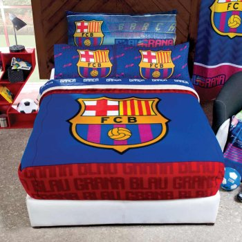 Cobertor Fleece con Borrega FcBarcelona