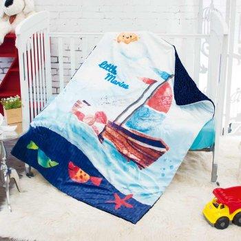Cobertor Cuna Micromink Con Borrega Marinero