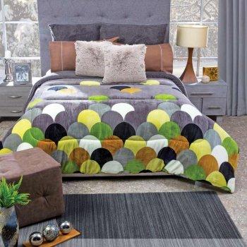 Cobertor Flannel Paraguas Con Borrega