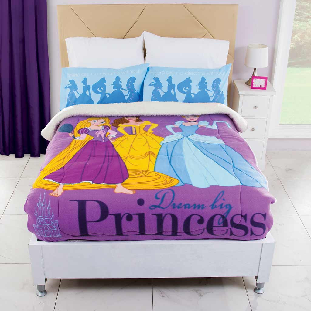 Cobertor Fleece Con Borrega Princesas Dream