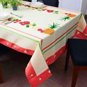 Mantel Rectangular Frutas Beige