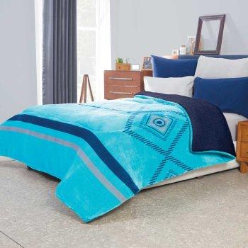 Cobertor Flannel Con Borrega Santorini