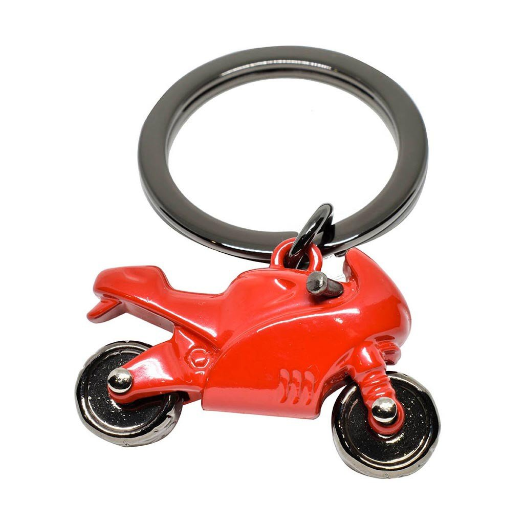 Llavero Metálico Figura Moto color Roja