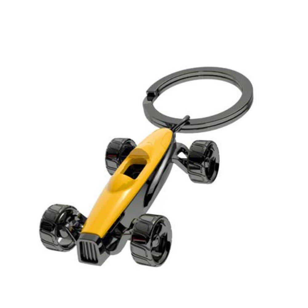 Llavero Metálico Figura Carro deportivo color Amarillo