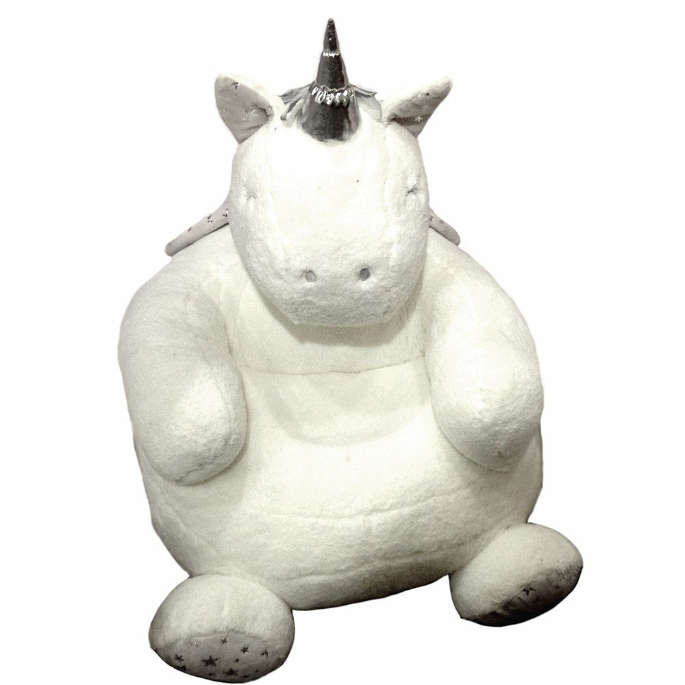 Sillón Unicornio de Peluche color Blanco