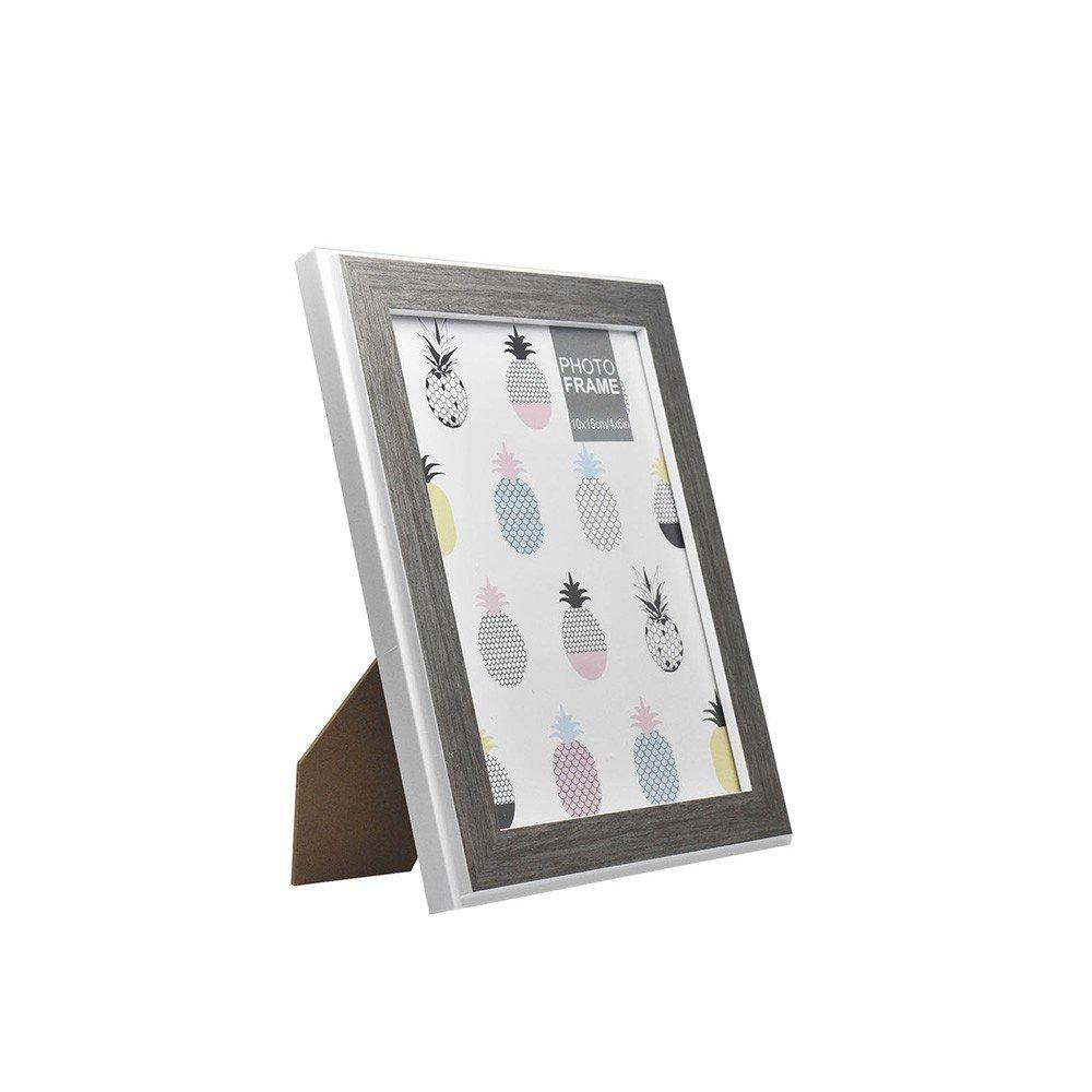 Portaretrato Gris Liso de Plástico Medidas 6x8