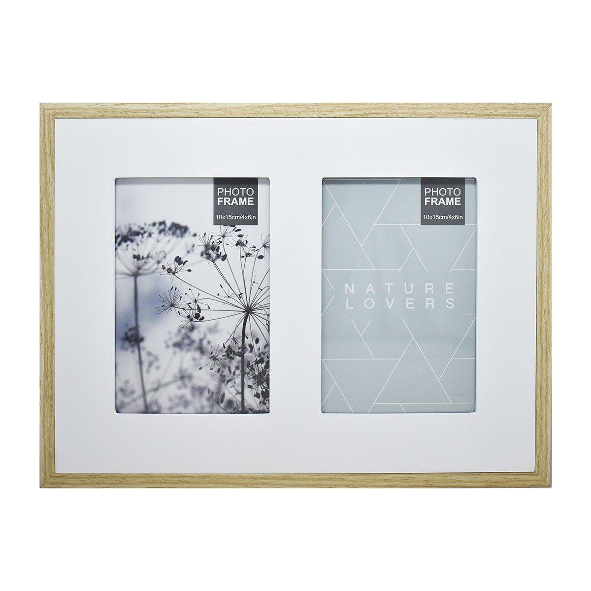 Multi Portarretrato doble de Madera color Blanco