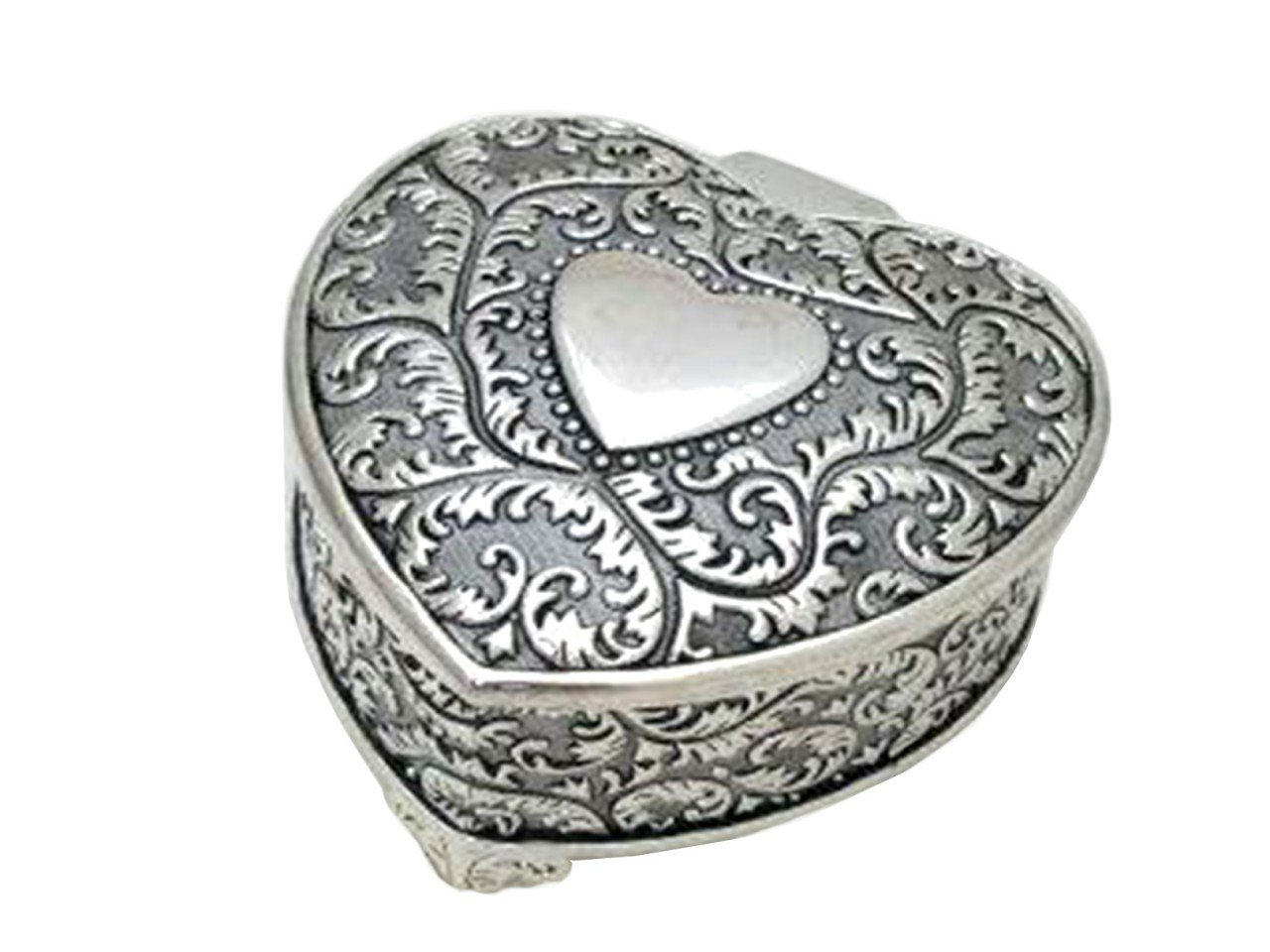 Alhajero de Metal color Plata forma de Corazón