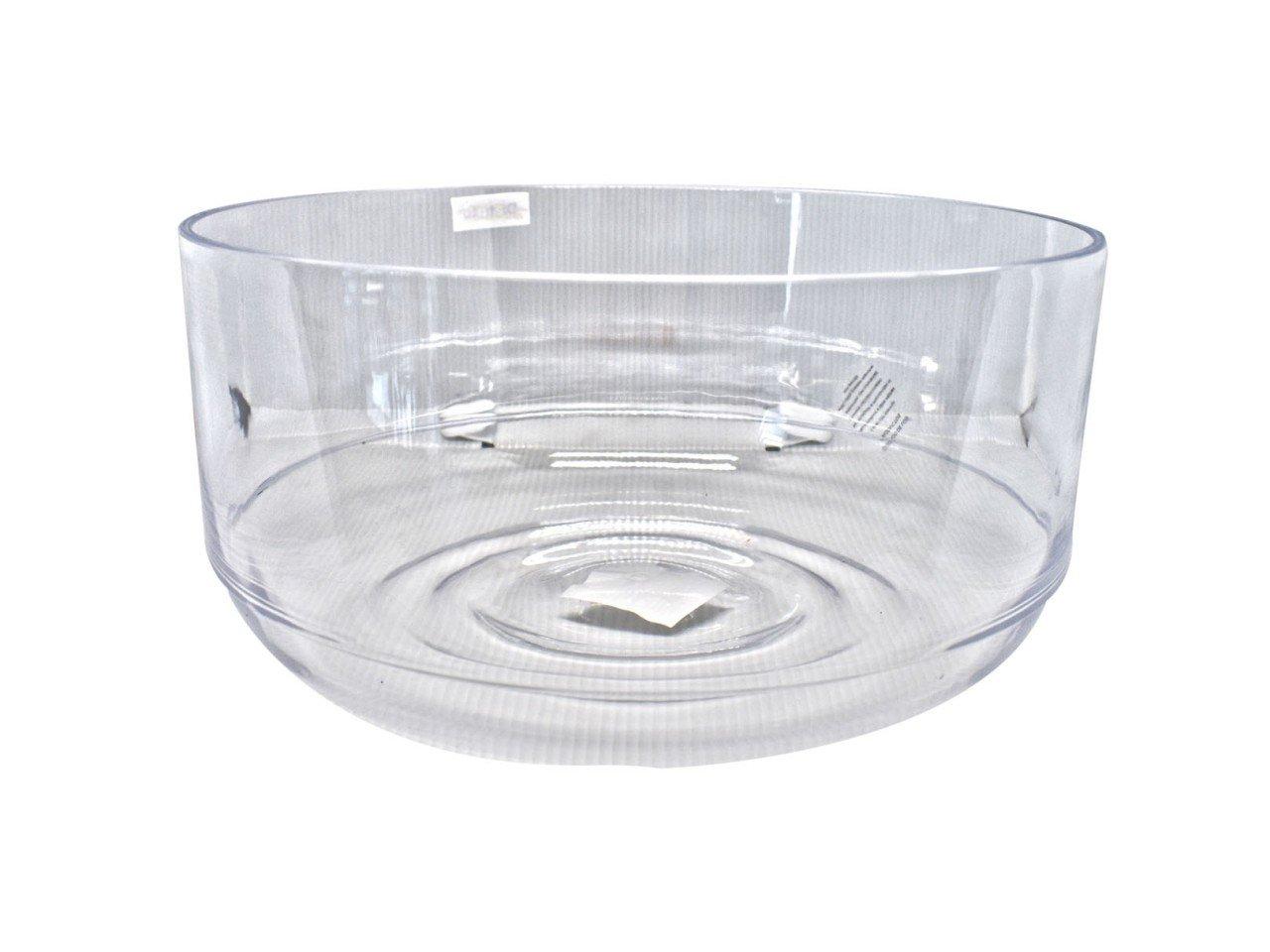 Mixing Bowl Acrílico Recto con ondas transparente