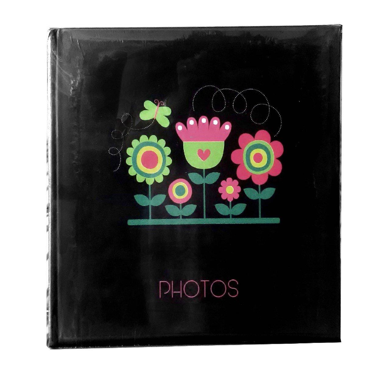 Álbum para Fotos color Negro con Flores