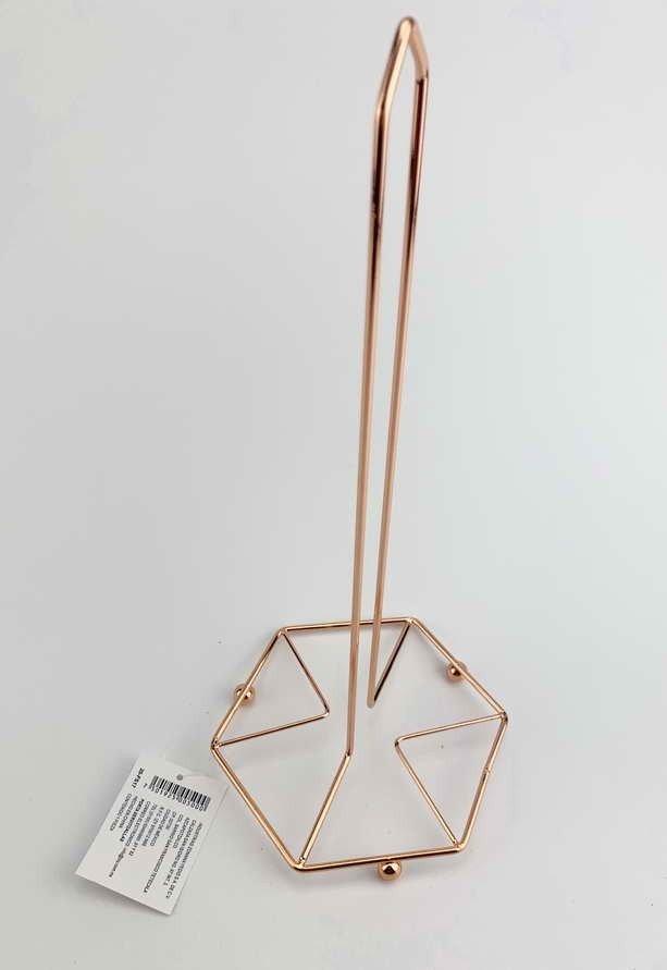 Porta servicio de Alambre Chevron color Oro Rosa