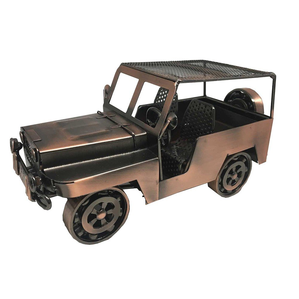 Carro Jeep de Metal para Decoracion