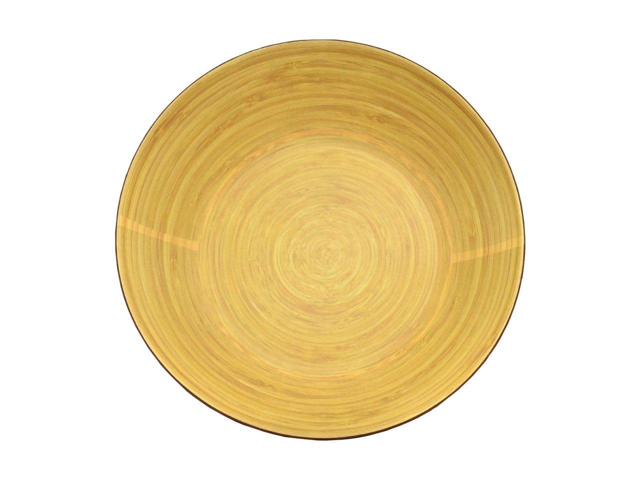 Ensaladera Bowl de Bambú color Vino  con Beige
