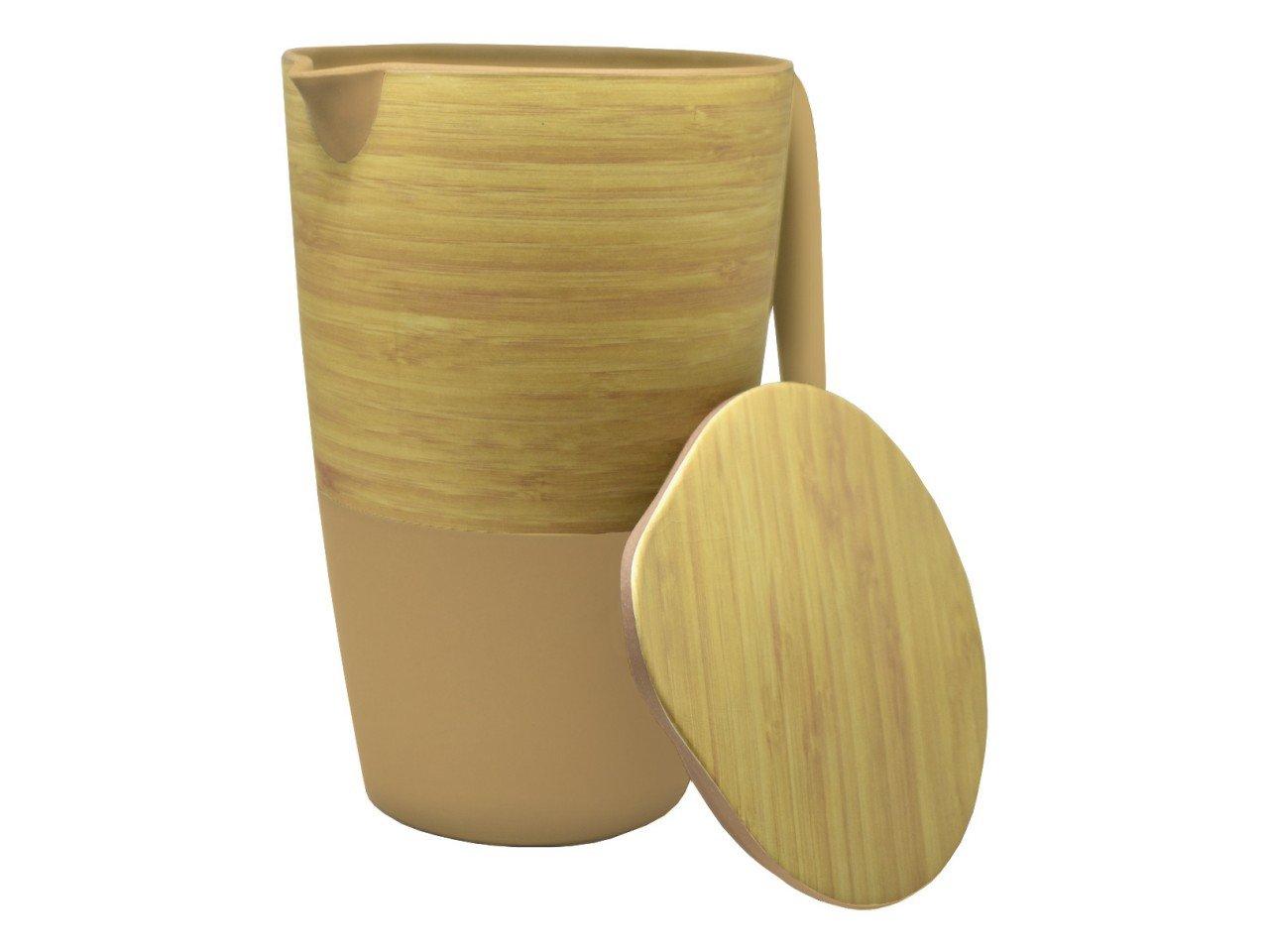Jarra de Bambú color Café con  Beige