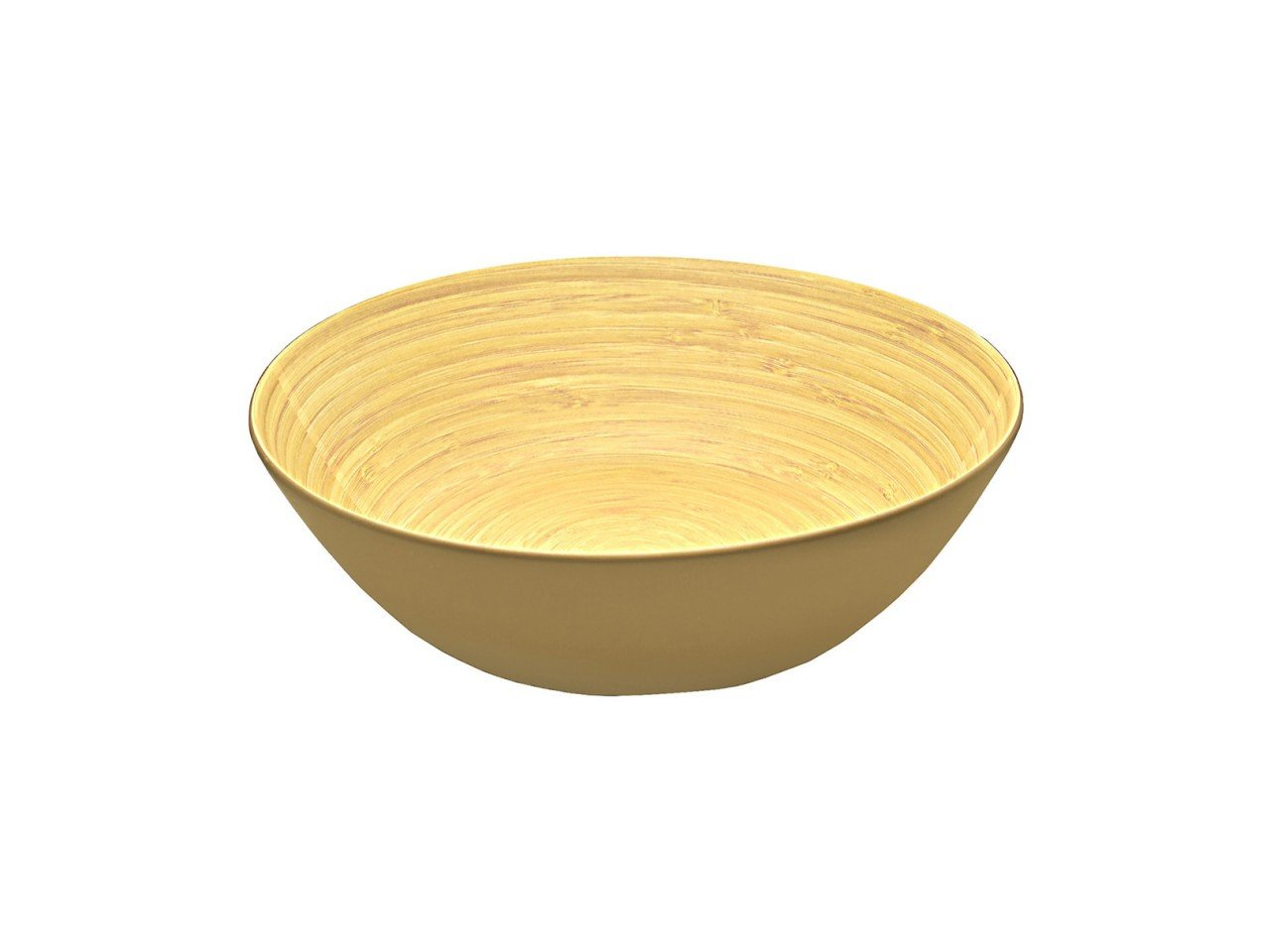Ensaladera Bowl de Bambú color Café con Beige