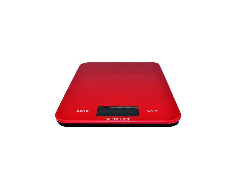Bascula de cocina de vidrio en color rojo