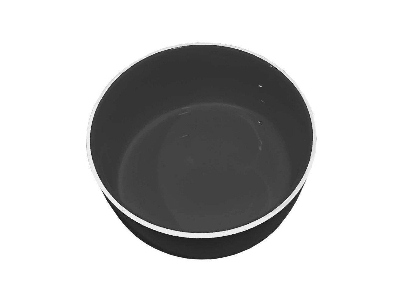 Bowl Negro Brilloso con Filo color Blanco