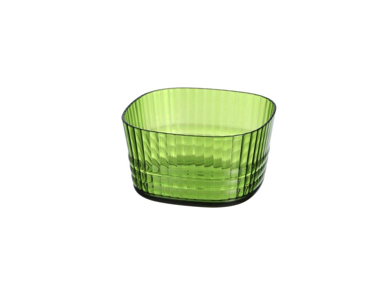 Mixingb Bowl de Acrílico Cuadrado con Franjas color Verde