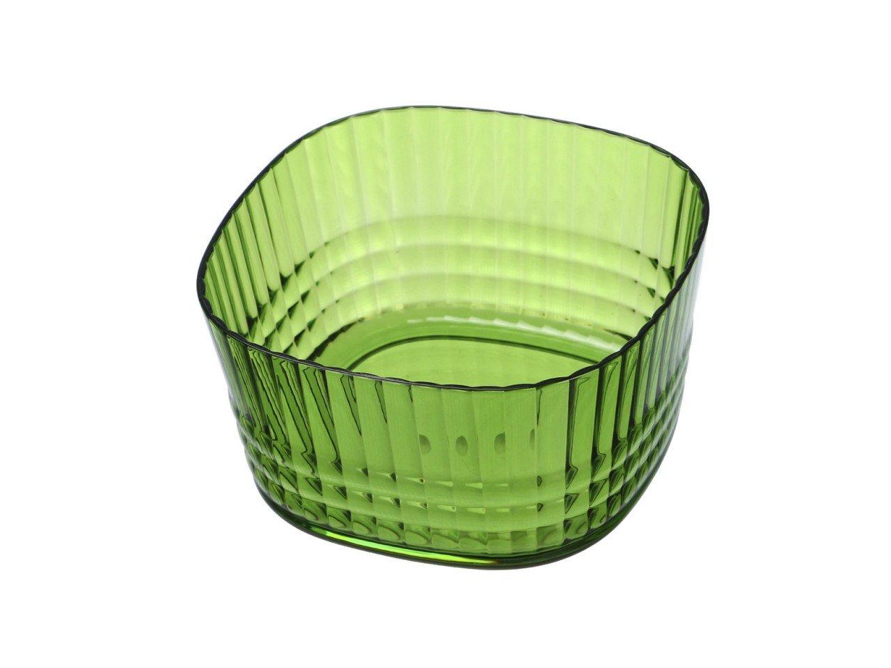 Ensaladera Bowl Cuadrado con Franjas color Verde