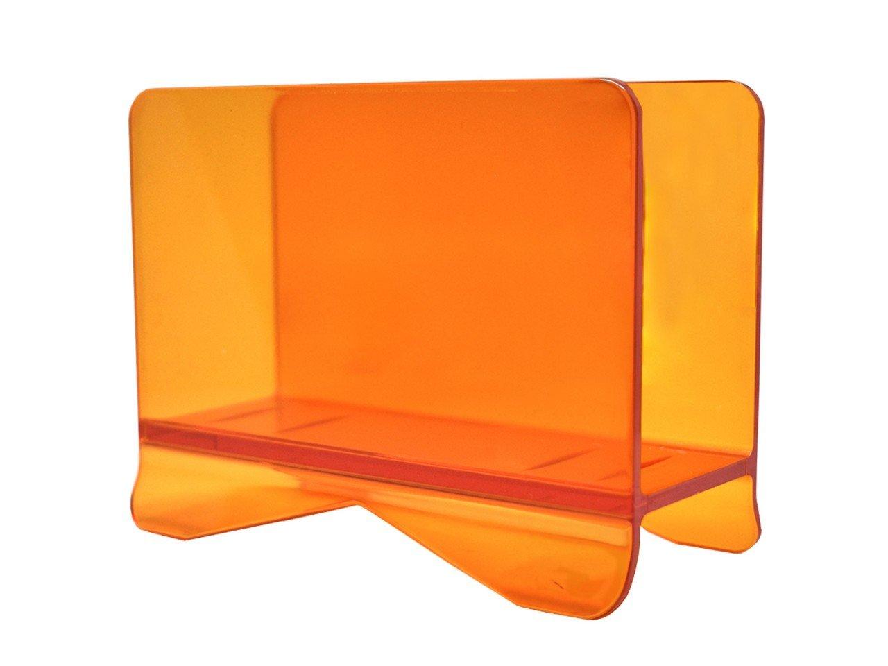 Servilletero Cuadrado  de Acrílico color Naranja