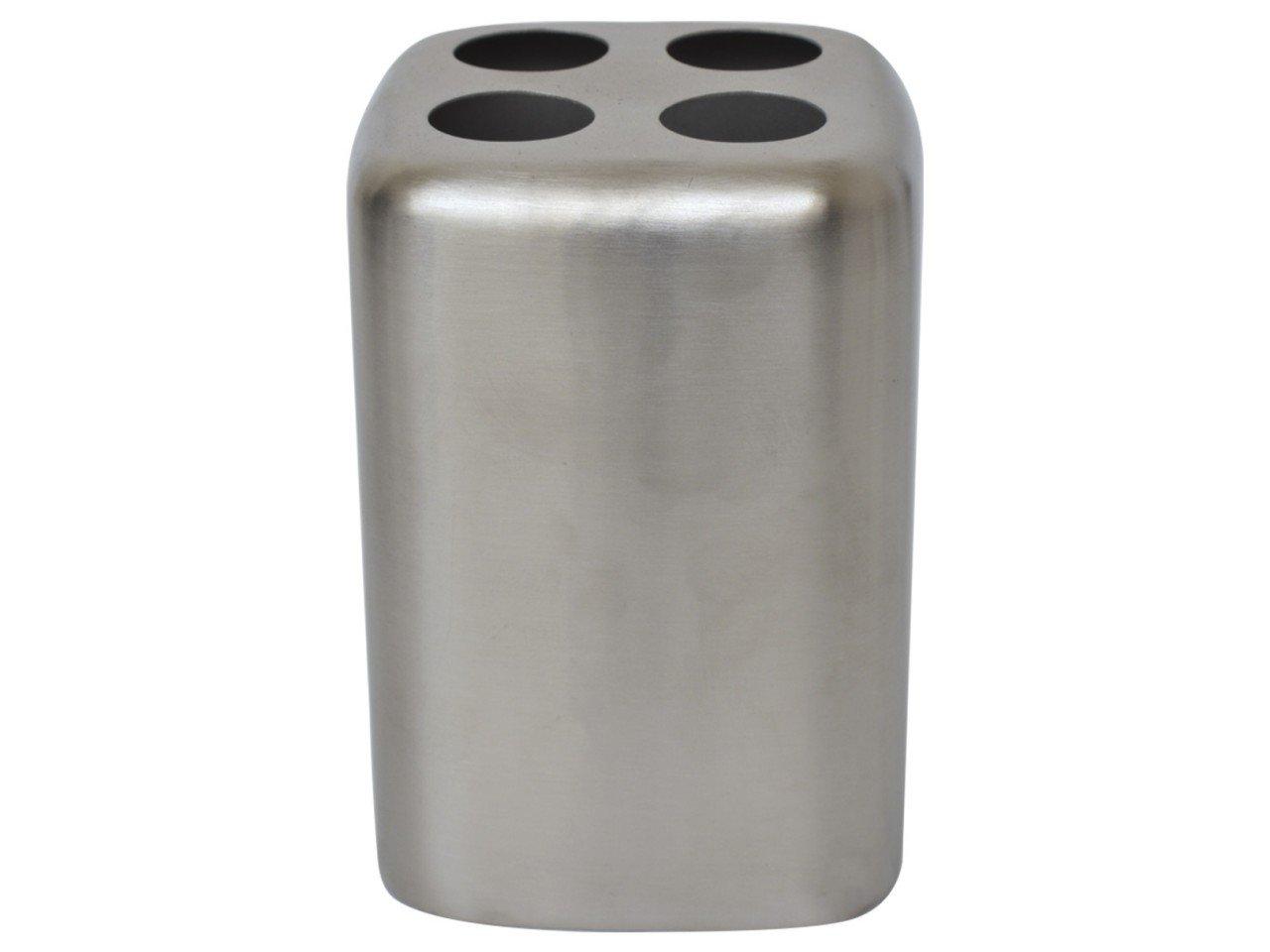 Porta Cepillo de Metal Cuadrado