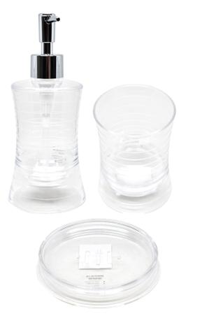 Set de baño Acrílico Trasparente