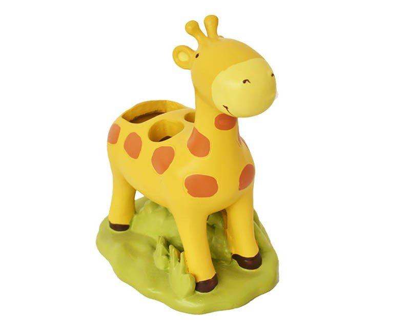 Porta cepillos de Cerámica en forma de jirafa