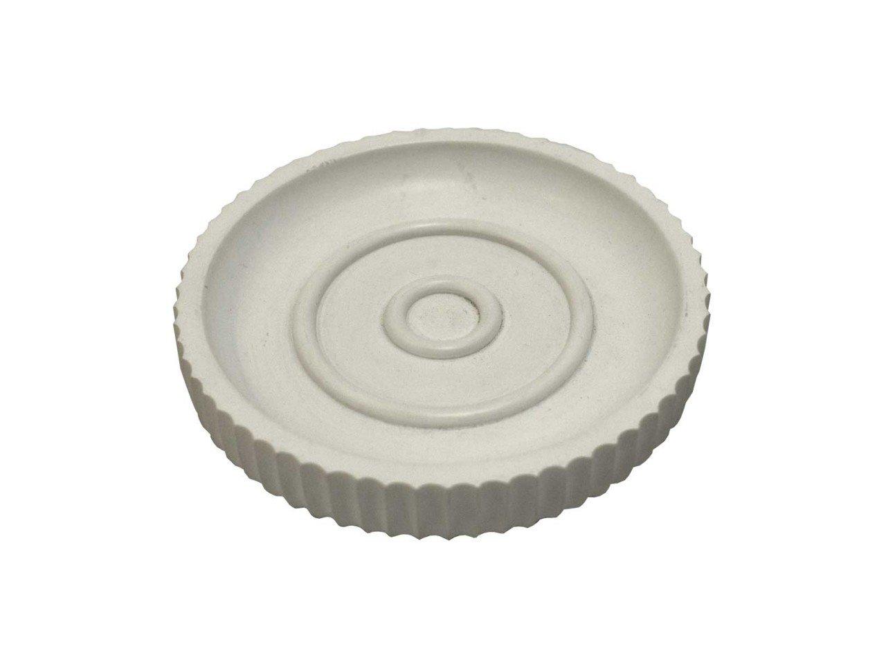 Jabonera de  Poliresina con franjas en color Blanco
