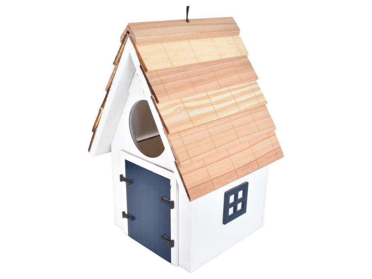 Casa para Pajaritos color Blanca con Azul