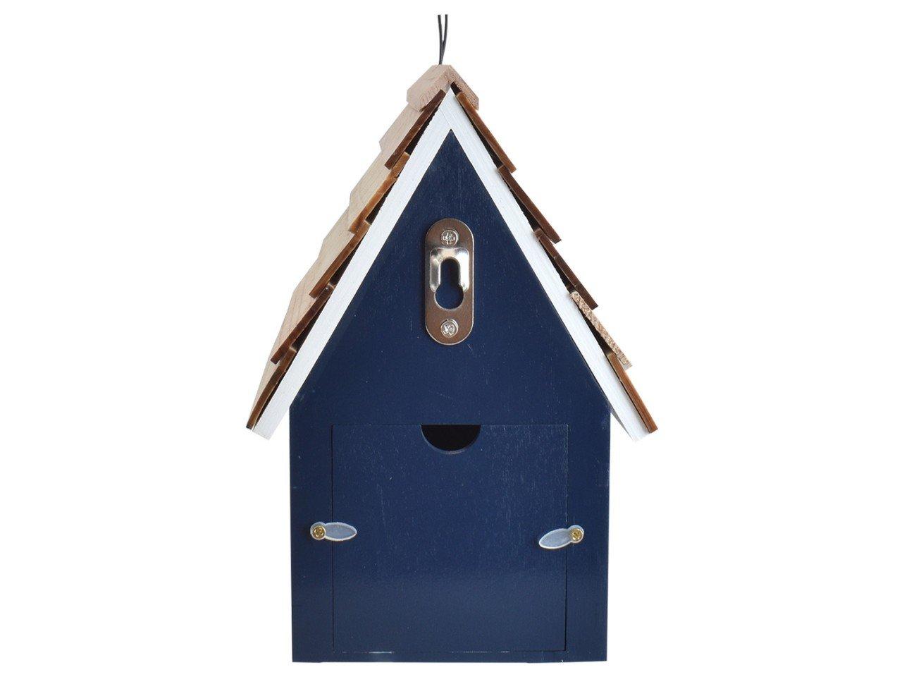 Casa para Pajaritos color Azul con Blanco