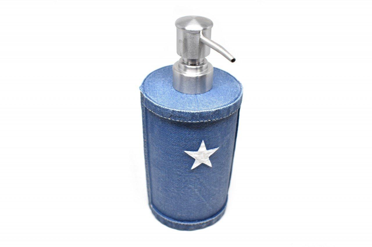 Dispensador Azul de Cerámica diseño tipo Mezclilla