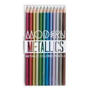 Lápices de colores metálicos