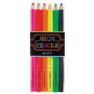 Lápices de colores neón