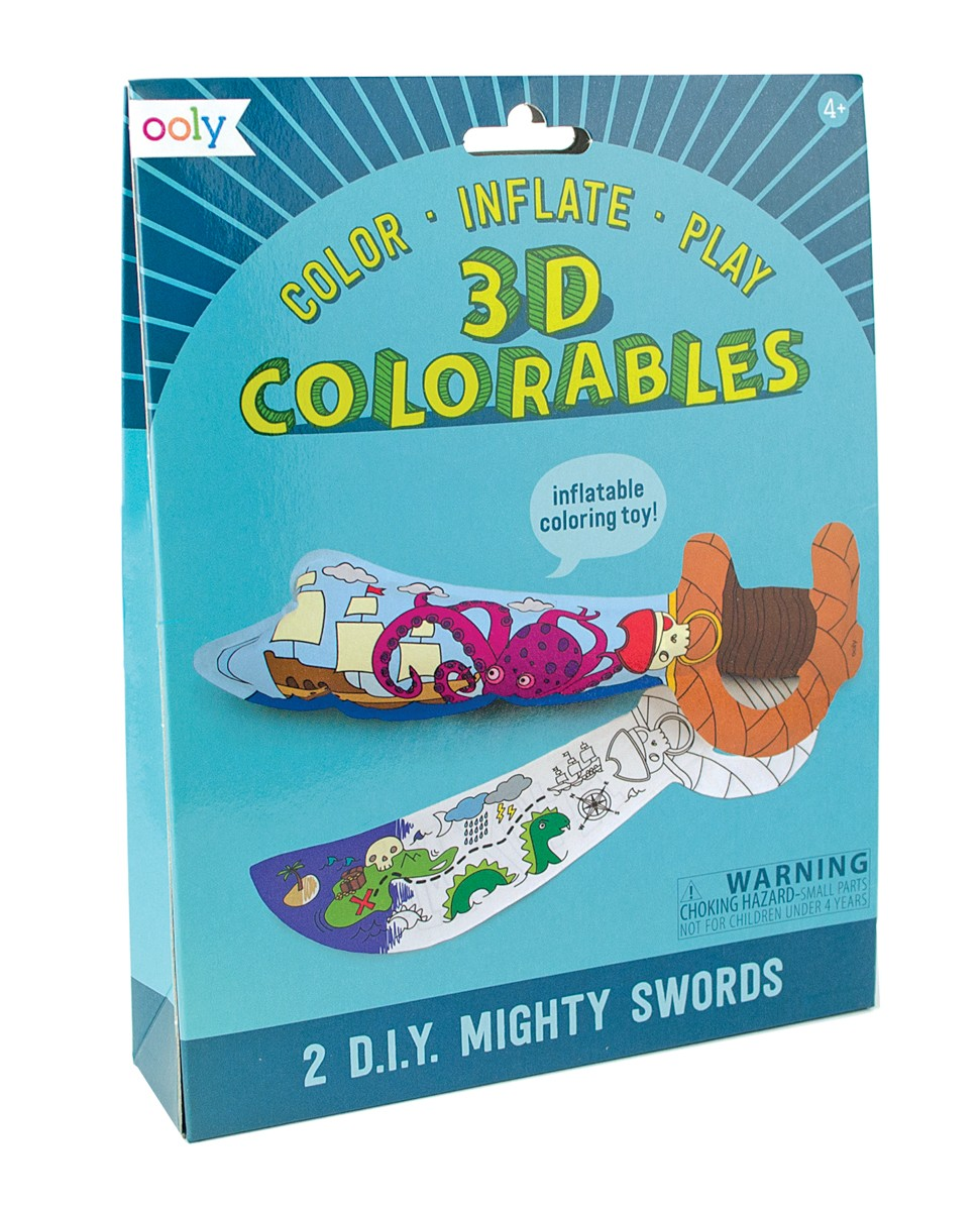 3D Coloreable, espadas