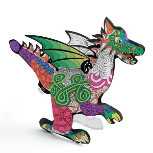 3D Coloreable, dragón
