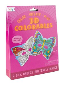 3D Coloreable, mariposas