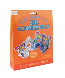 3D Coloreable, felinos