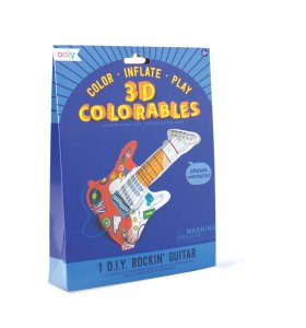 3D Coloreable, guitarra