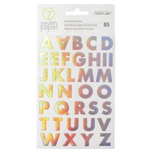 Calcomanías de letras tornasol