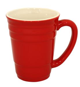 Taza diseño vaso rojo