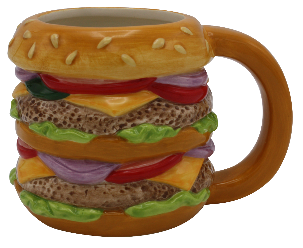 Taza diseño de hamburguesa